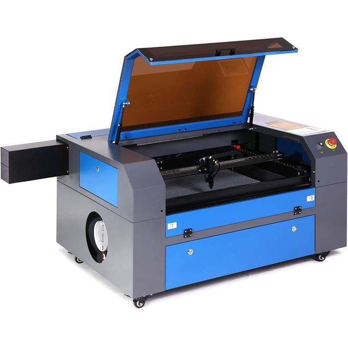 Machine de Gravure de Laser CO2, 80W 500x700mm Machine de Laser à Haute Vitesse de Port USB 2,0 pour DIY Sculpture Ouvrage du Bois,