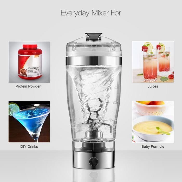 Shaker Proteine Whey Electrique Mixeur Automatique Musculation Voortex Hightechnology®