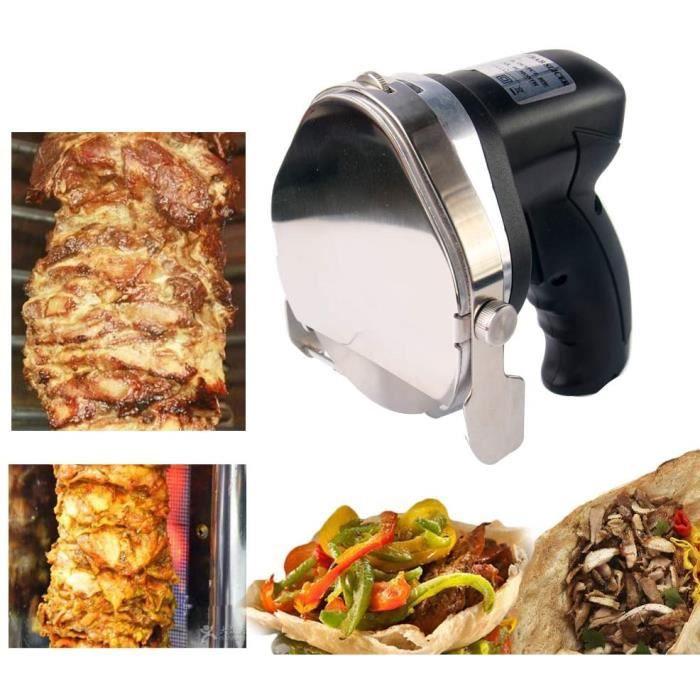 TRUSTME Machine Kebab Couteau à Kebab électrique 220V Doner Couteau Kebab Slicer 3000RPM Pour kebab Machine