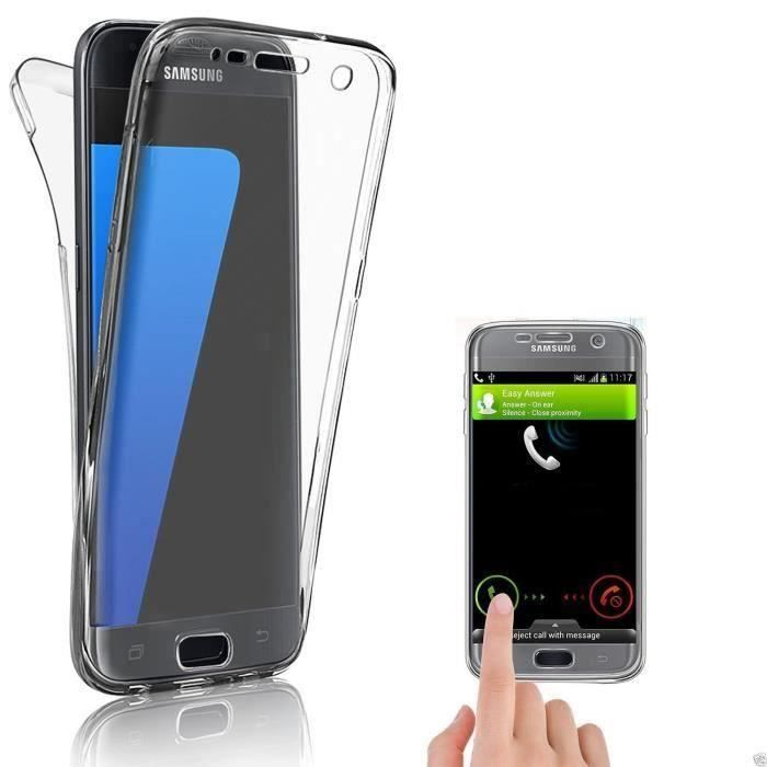 CABLING® Samsung Galaxy S7 Coque DOUBLE GEL Silicone Protection INTEGRAL pour le Smartphone Samsung GALAXY S7 Tra…