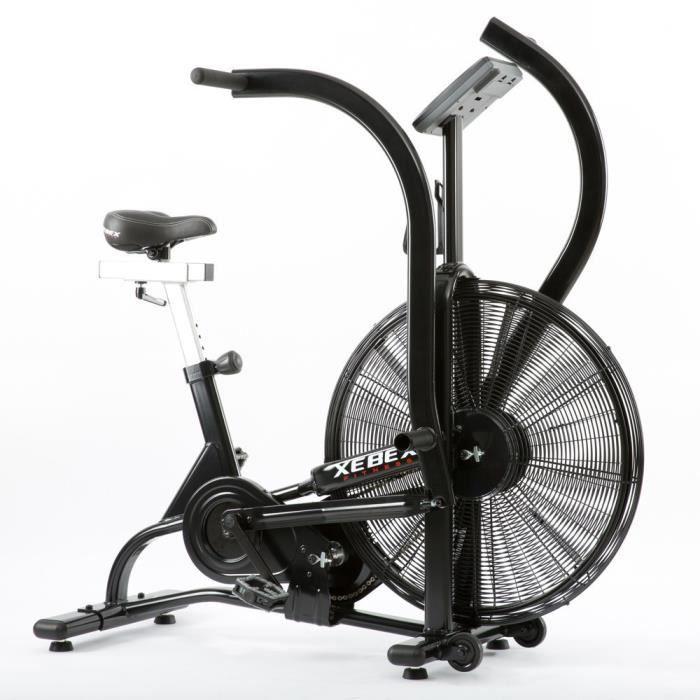 Xebex AB-1 - Vélo Professionnel Air Bike - Résistance à l'air - CrossFit - Noir