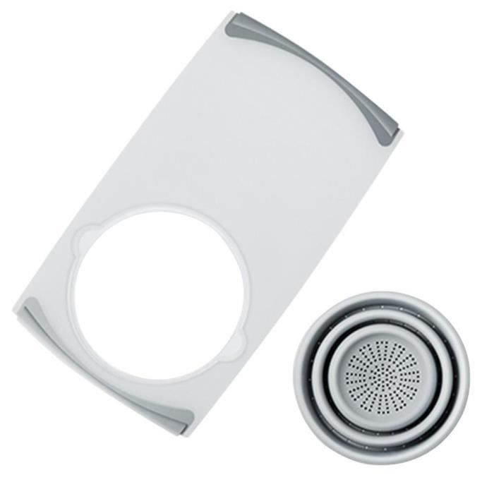 Planche à découper,Cuisine planche à découper pliable planche à découper avec passoires cuisine planche à découper lavage - Type A