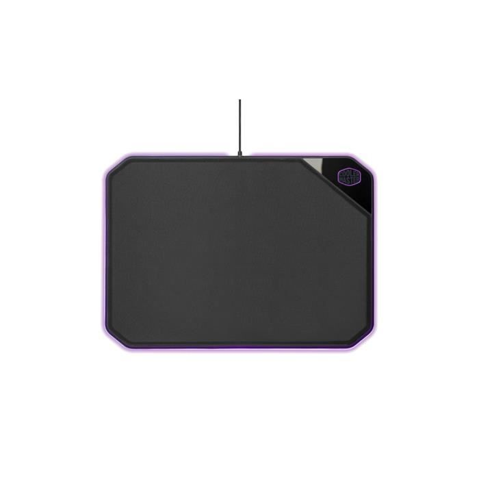 Cooler Master - MP860 - Tapis de souris Gaming rigide double face RGB ( 360 x 260 x 6 mm) Faces tissu & Aluminium - Noir