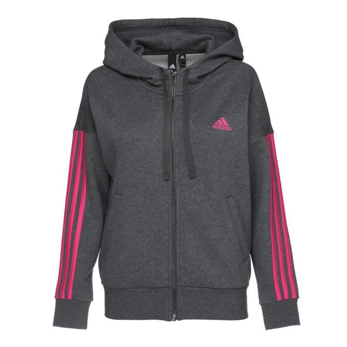 ADIDAS ORIGINALS Sweat à capuche - Femme - Gris anthracite