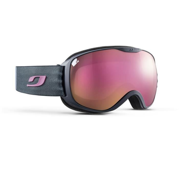 JULBO Masque de Ski Pioneer Bleu et Rose Cat3