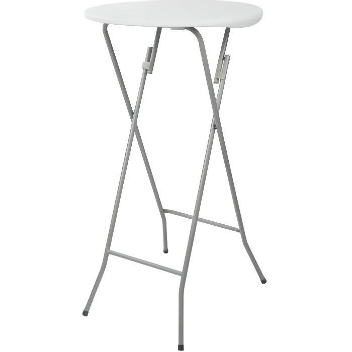 Table de bar pliable 60cm diamètre du plateau