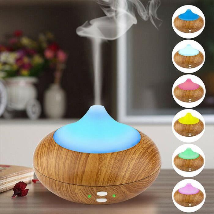 Humidificateur d'air LED 7 couleurs, Diffuseur d'huile essentielle électrique LED Diffuseur aromatique pour bébé,maison,voiture