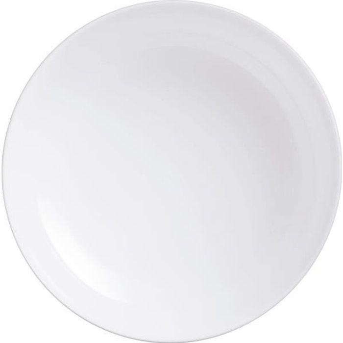 Plat à four rond 250°C 18cm Diwali - Luminarc - opale culinaire extra léger et résistant