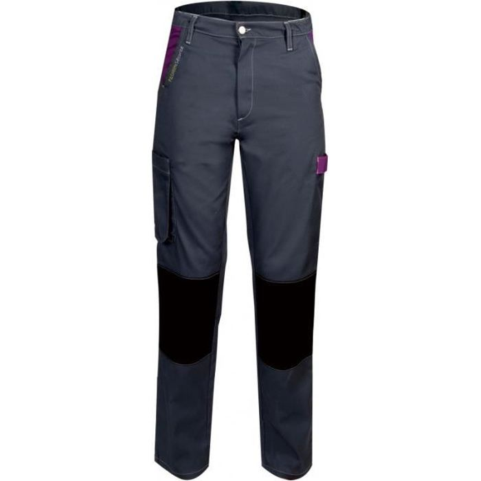 Pantalon de travail femme Gris Violet
