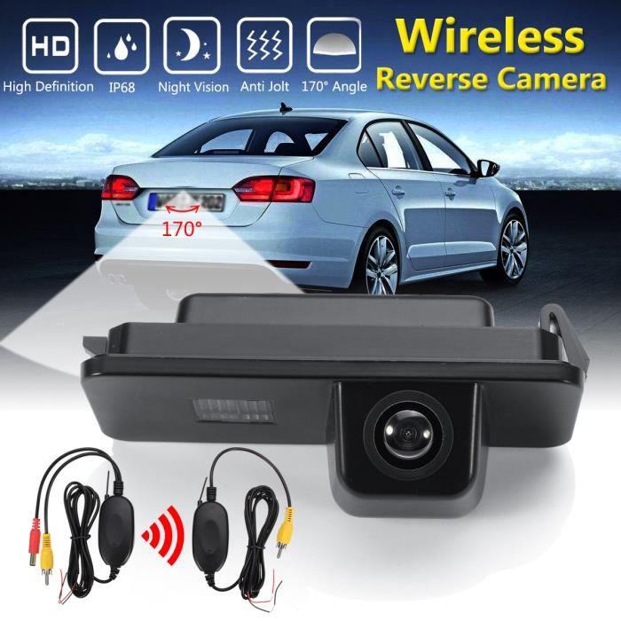 NEUFU 170° Caméra de Recul Vue Arrière Sans Fil Automatique CCD Pour VW Golf MK4 Passat CC Seat Altea