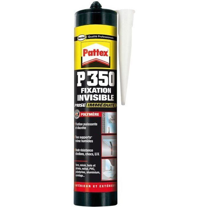 Mastic P350 - fixation invisible - prise immédiate - 294 g