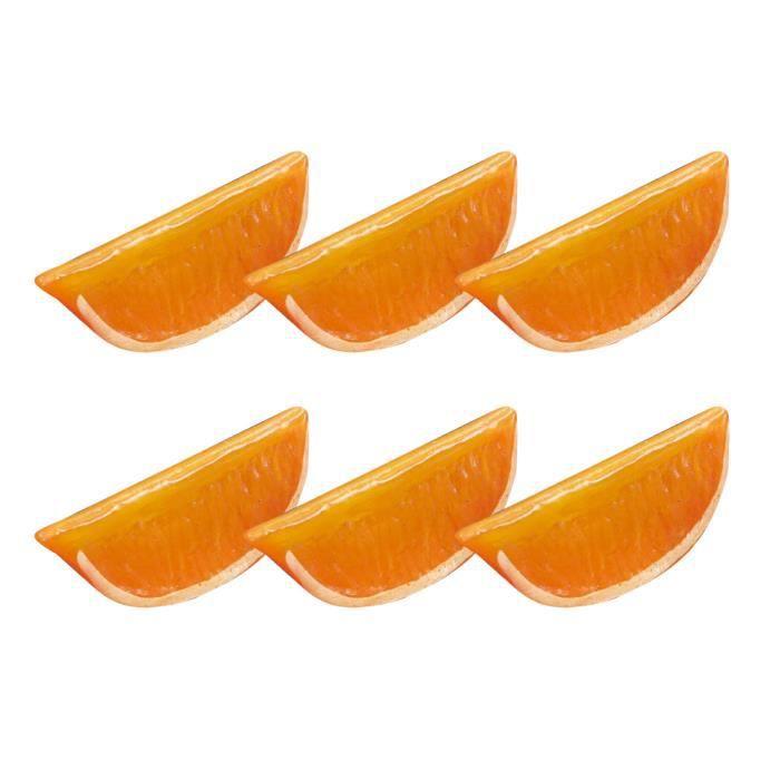10 pcs Modèle Alimentaire Artificiel Décoratif Simulation En Plastique Faux Citron Photo Prop Tranche PROTECTION DES DOIGTS
