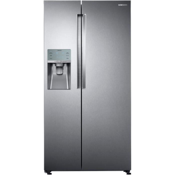 SAMSUNG RS58K6537SL-Réfrigérateur américain-575 L (395 + 180 L)-Froid ventilé intégral-A+-L 90,8 x H182,5 cm-Inox premium