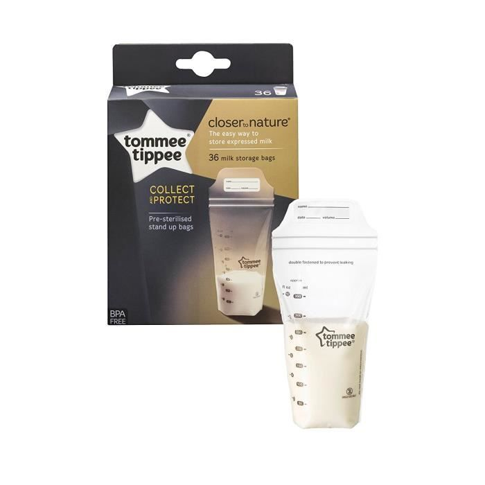 Tommee Tippee 36 Sachets pour lait maternel