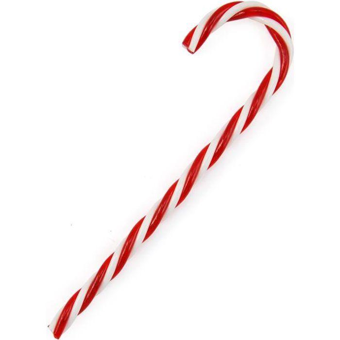 TRIXES - Set de 6 décorations sucres d'orge rouge & blanc de 15cm pour Noël