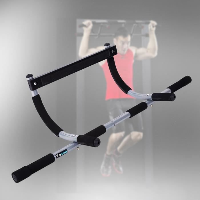 Barres de Traction Barre de Fitness Fixation plafond Exercices Pull Up Bar VGEBY2