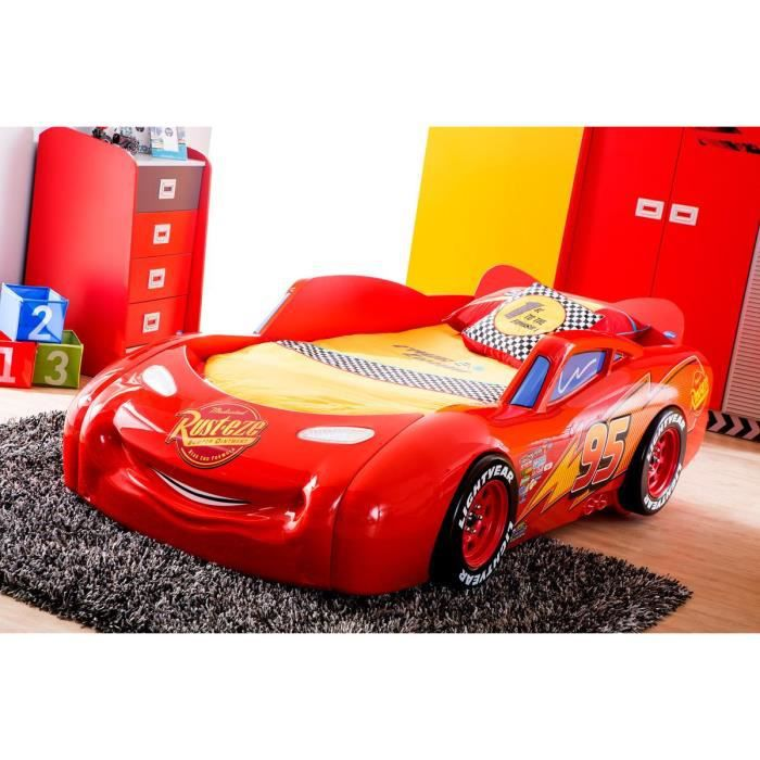 lit cars mcqueen disney achat vente structure de lit lit cars mcqueen disney soldes d s. Black Bedroom Furniture Sets. Home Design Ideas