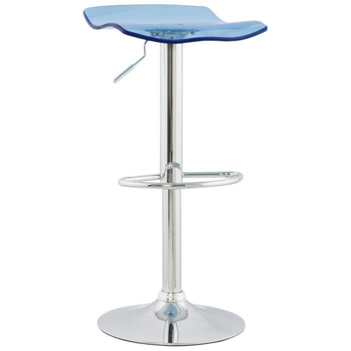tabouret de bar design 39 leo 39 en plexiglas bleu achat vente tabouret de bar acrylique m tal. Black Bedroom Furniture Sets. Home Design Ideas