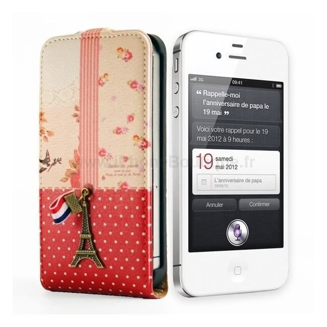 Etui housse portefeuille luxe iphone 5 5s paris achat for Housse iphone 5s