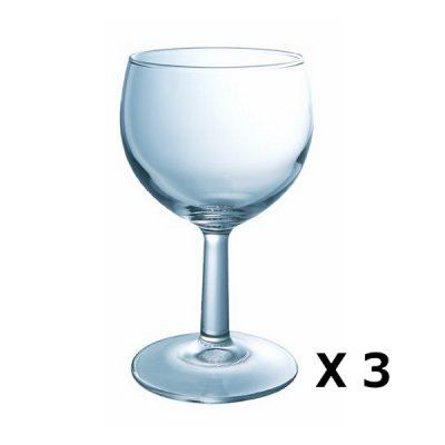 3 verres vin ballon pied contenance 15 cl achat vente verre vin cdiscount. Black Bedroom Furniture Sets. Home Design Ideas