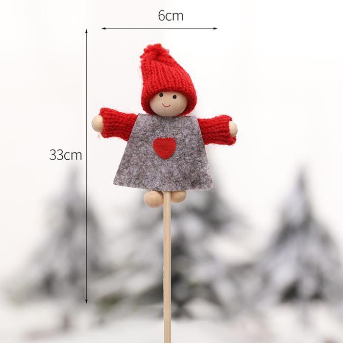 POUPÉE Poupée de Noël Mini poupée bambou bâton Figurine o