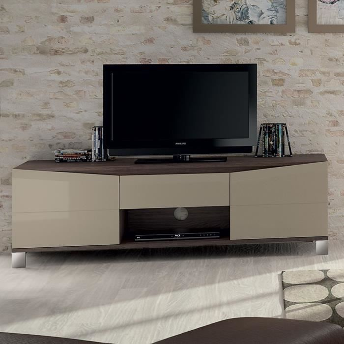 trendy credence meuble tv avec crdence en option plazza avec crd with credence lumineuse. Black Bedroom Furniture Sets. Home Design Ideas