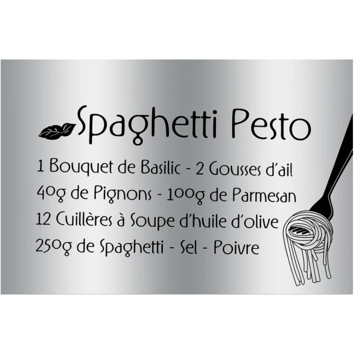 Plaque sticker gourmand protection cuisine recette for Plaque de protection murale cuisine