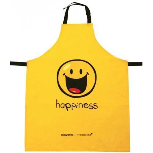 Tablier de cuisine jaune happy colors happiness achat for Achat tablier cuisine