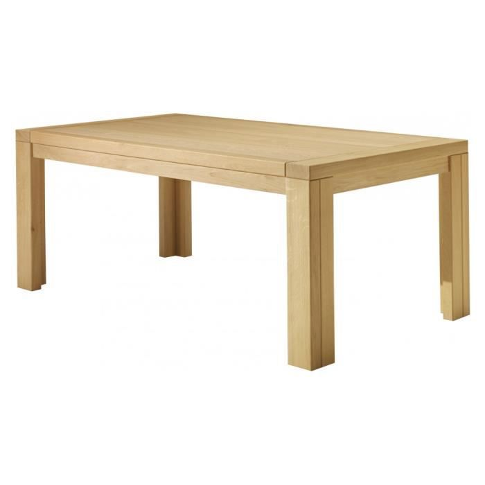 Table manger rectangulaire ch ne clair 1 allo achat for Table a manger rectangulaire