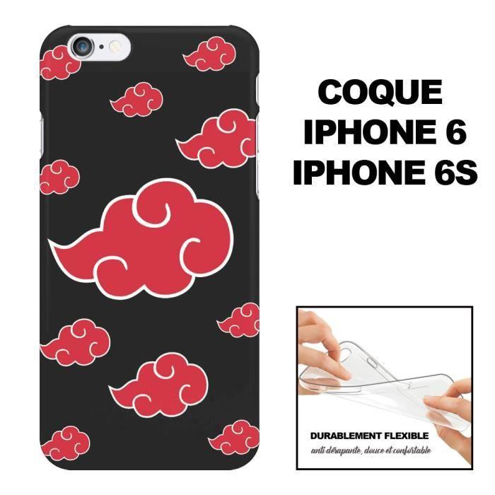 Coque iPhone 6 Akatsuki – Motif Manga, En Silicone