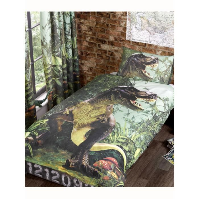 parure de lit dinosaure. Black Bedroom Furniture Sets. Home Design Ideas
