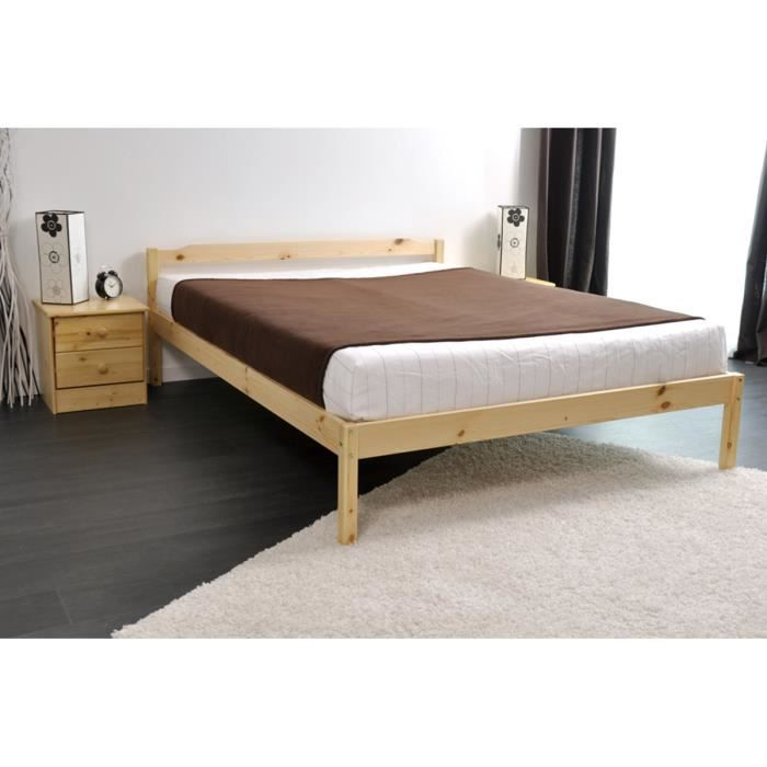 ensemble lit 140x190 avec sommier 2 chevets p achat. Black Bedroom Furniture Sets. Home Design Ideas