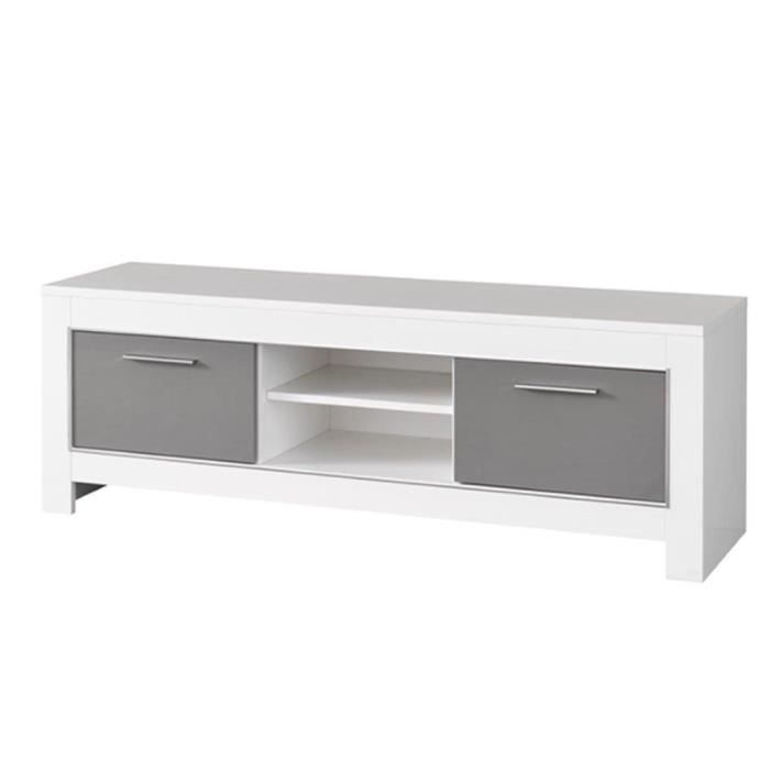 meuble tv modena laquee blanc gris achat vente meuble tv meuble tv modena laquee bla. Black Bedroom Furniture Sets. Home Design Ideas