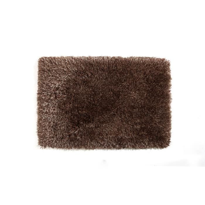miliboo tapis shaggy descente de lit chocolat achat. Black Bedroom Furniture Sets. Home Design Ideas
