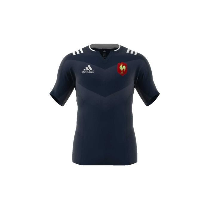 0b3cc98d541 Maillot rugby XV de France, entrainement 2017/2018 adulte - Adidas ...