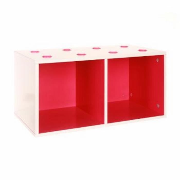 paris prix meuble de rangement empilable 2 cubes abc fuchsia achat vente petit meuble. Black Bedroom Furniture Sets. Home Design Ideas