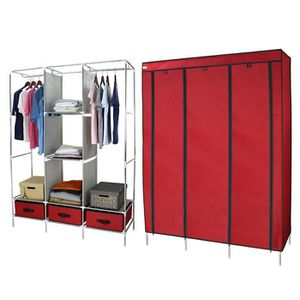 armoire chambre rouge achat vente pas cher. Black Bedroom Furniture Sets. Home Design Ideas