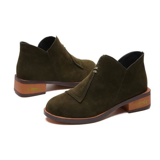 Martin Single 2562 Autumn Roman Ladies Short Vert Shoes Solid Ankle Femmes Boots y UOHYxzx
