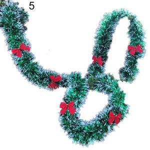 GUIRLANDE DE NOËL Noël Vert En Plastique Bowknots Boules Guirlande A