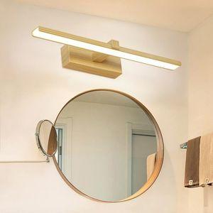 APPLIQUE  Bois Grain Couleur Miroir LED Lampe, Salle De Bain