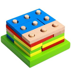 JEU D'APPRENTISSAGE Montessori Puzzle en bois Enfants Toy géométrique