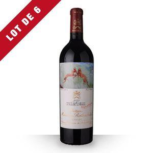 VIN ROUGE 6X Château Mouton Rothschild 2012 Rouge 75cl AOC P