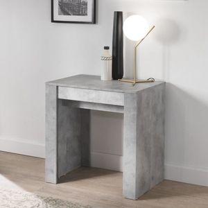 TABLE À MANGER SEULE Table console extensible 250 cm gris clair design