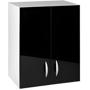 ÉLÉMENTS HAUT Meuble cuisine haut 60 cm 2 portes OXANE noir