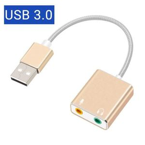 CARTE SON EXTERNE Adaptateur Carte Son externe USB 7.1 Jack 3.5mm ex