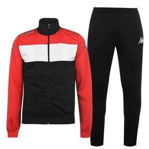 SURVÊTEMENT Jogging Kappa Homme Noir Blanc et Rouge