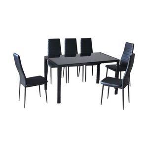 TABLE À MANGER COMPLÈTE Ensemble table + 6 chaises LYON. Ce set trouvera f