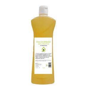 HUILE - LAIT MASSAGE Huile de massage 100% végétale parfumée à l'AMANDE