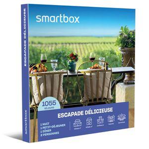 COFFRET SÉJOUR SMARTBOX - Coffret Cadeau - Escapade délicieuse -