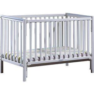 LIT BÉBÉ Lit bébé à barrière coulissante Camille  Bleu 60x1